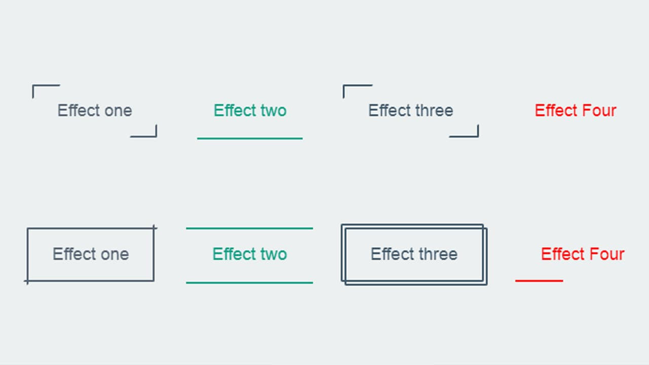 4 Button with effects hover