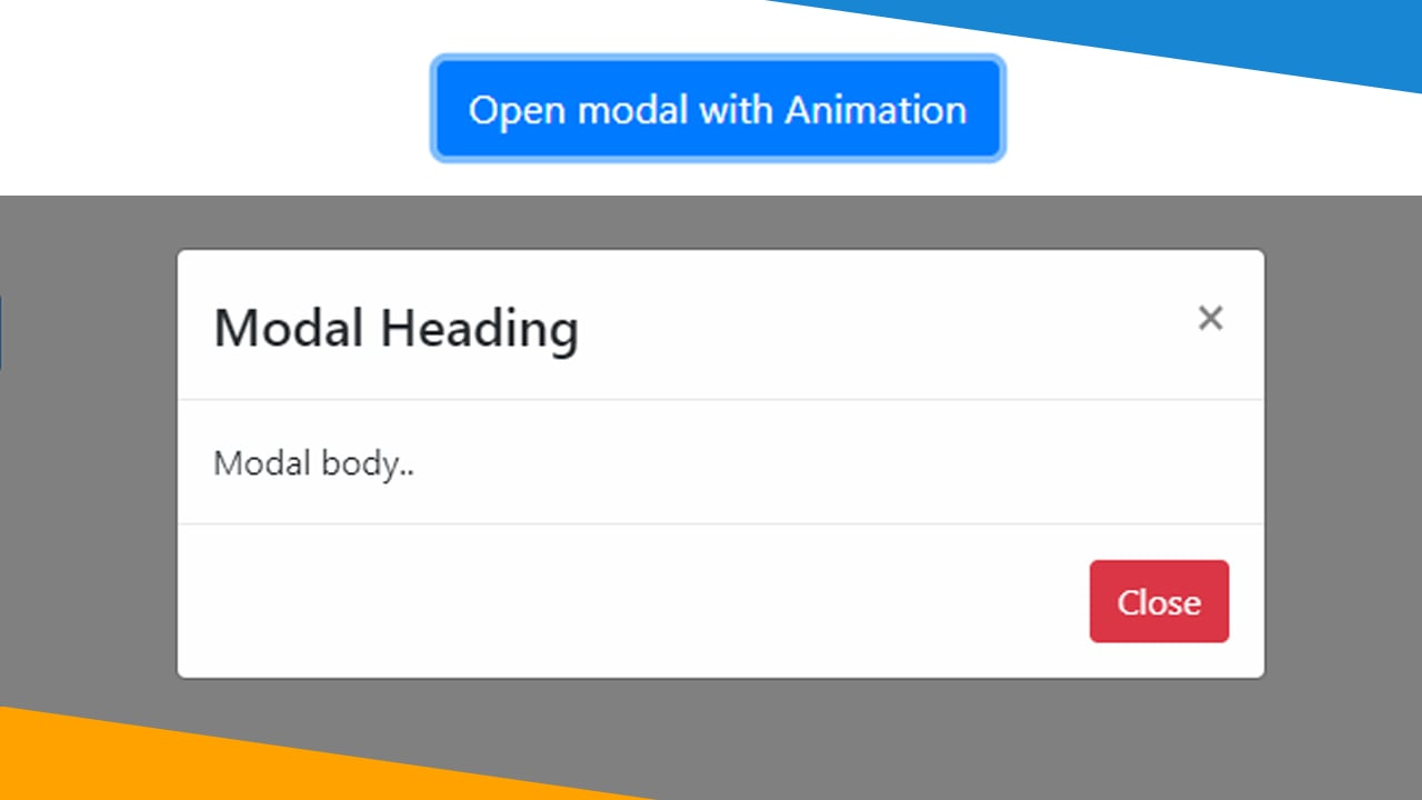 Bootstrap 4 Modal animation with animate.css