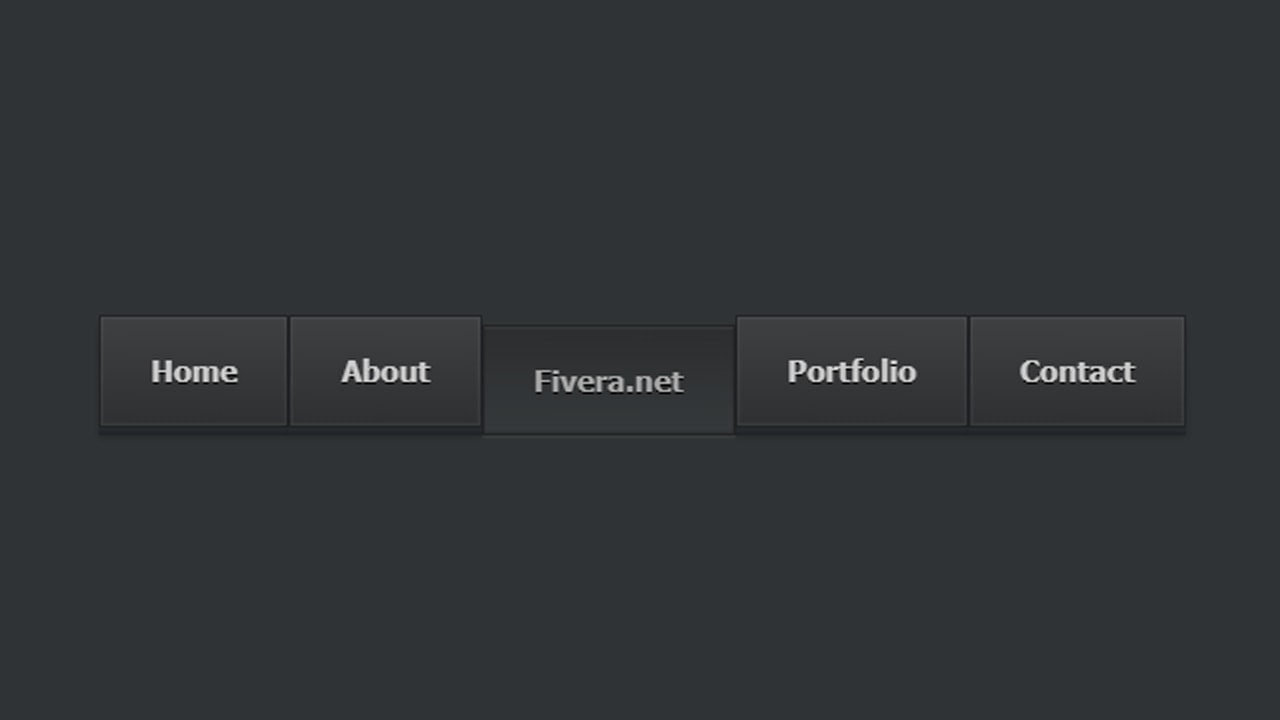 Dark Horizontal Menu with Css and Html