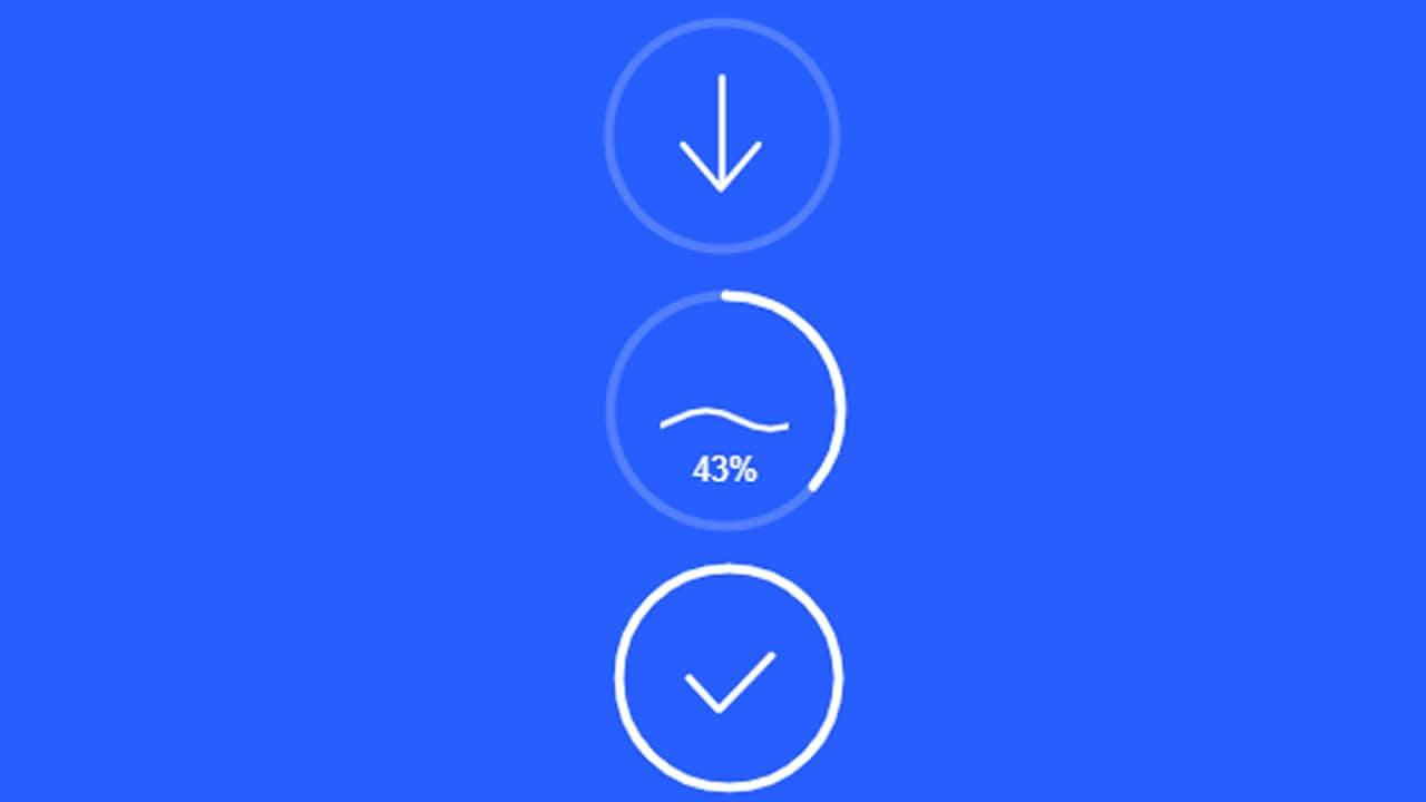Download Button progress animation