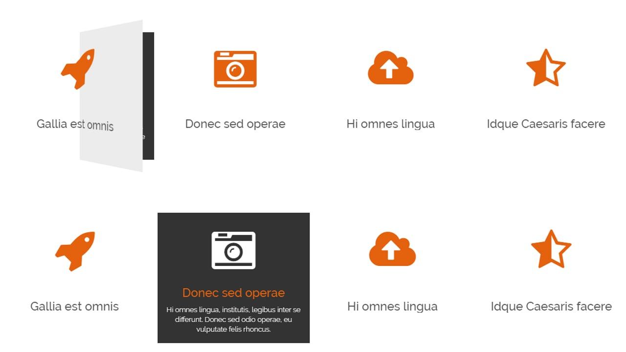 Flip cards 3D CSS