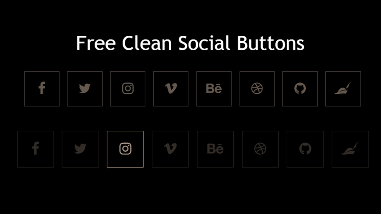 Free Clean Social Buttons
