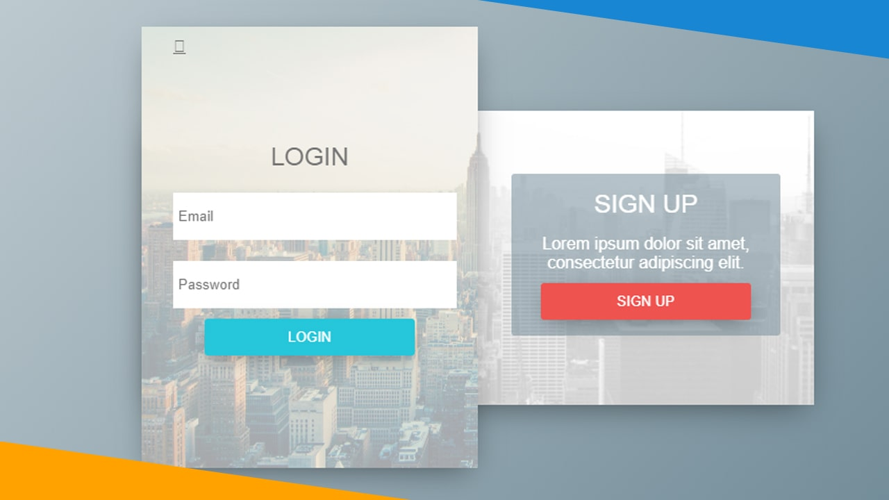 Login & Sign Up Form with animation