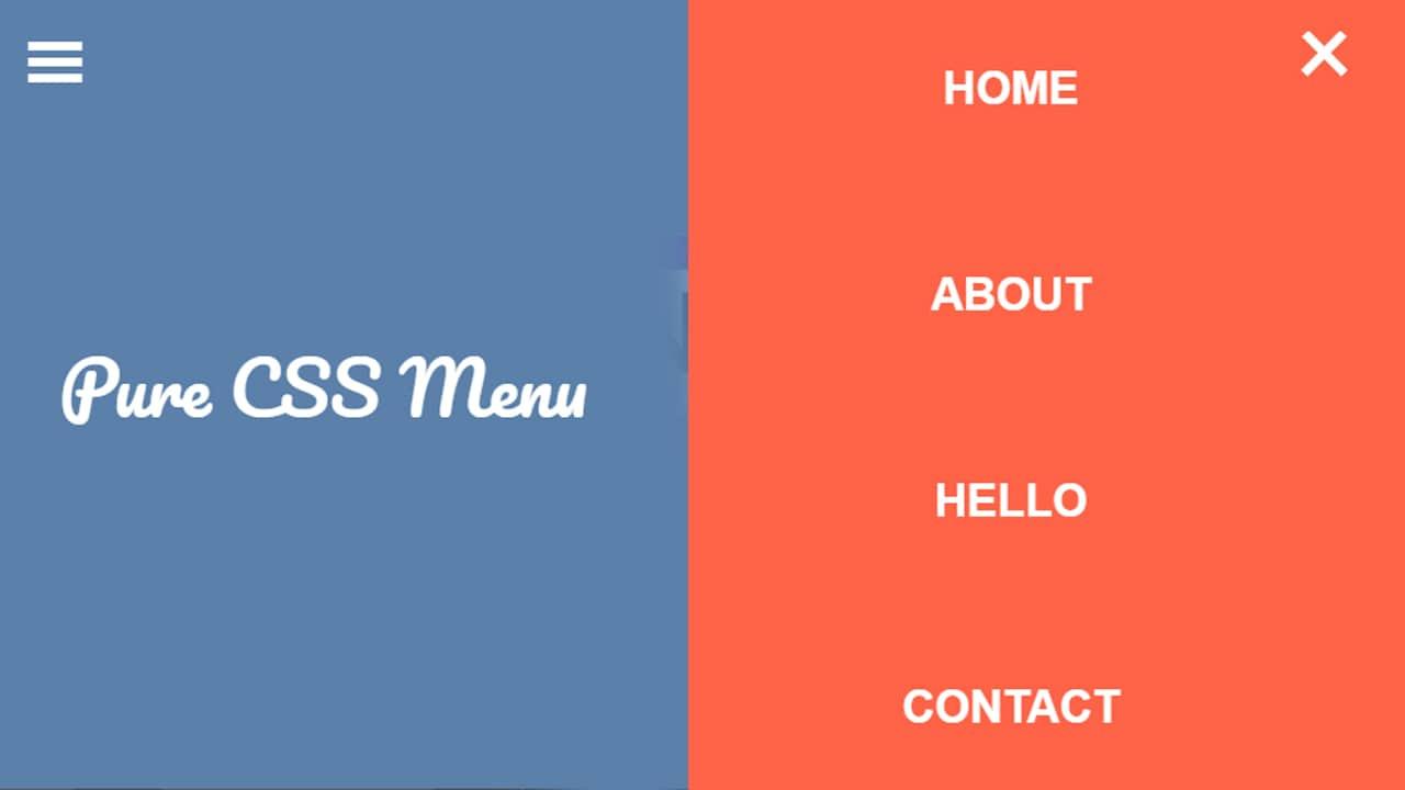 Menu Vertical full Page CSS