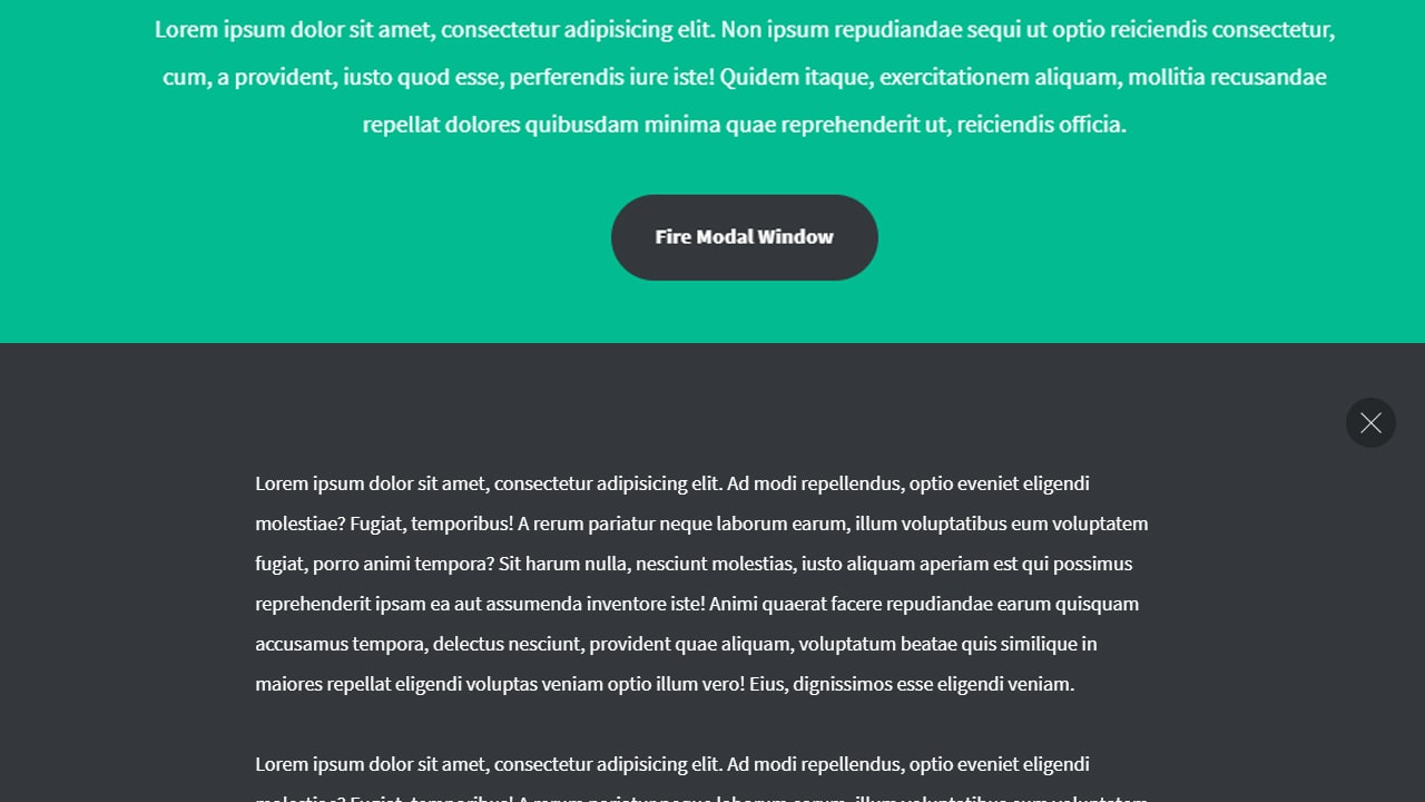 Modal Window with JQUERY