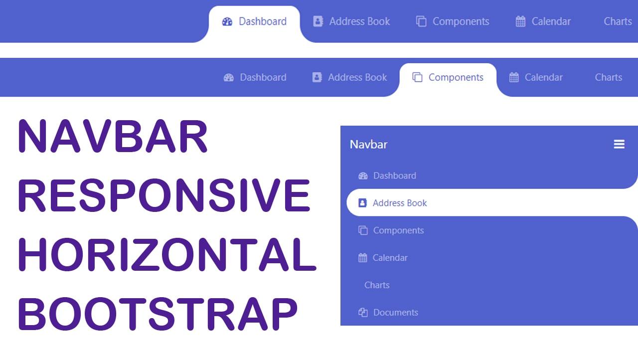 Navbar Responsive Horizontal with Bootstrap