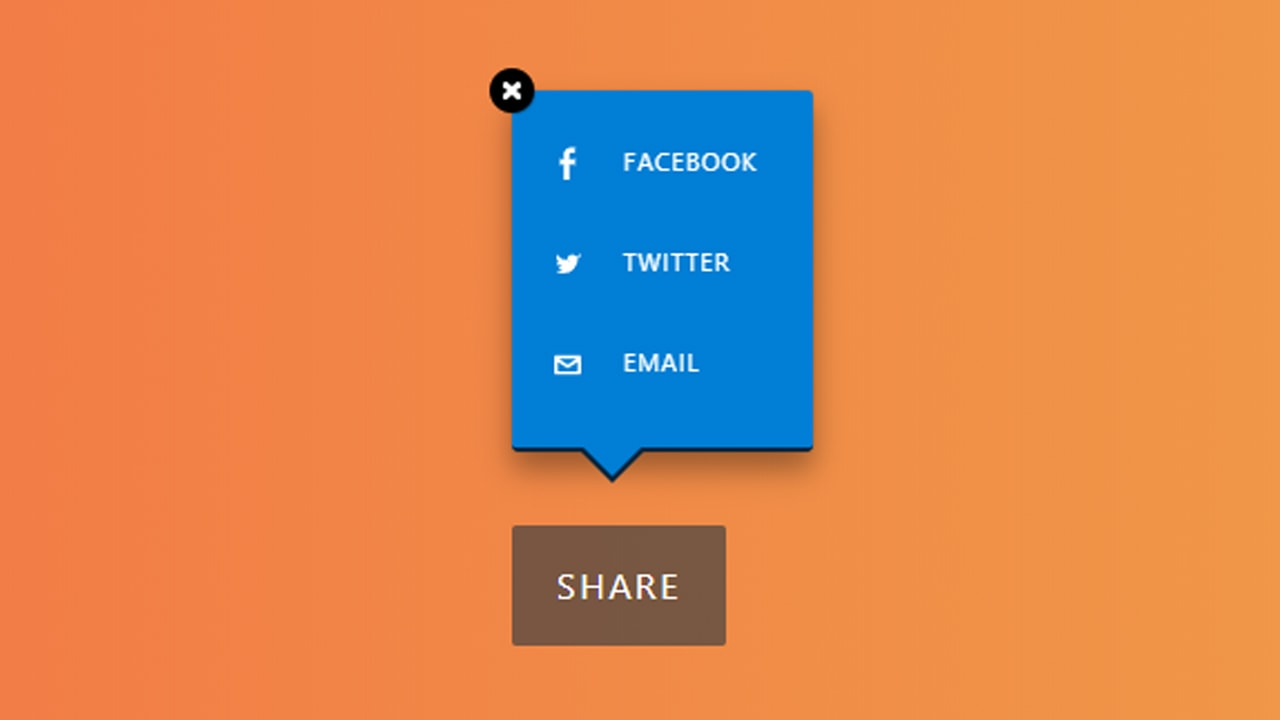 Share Button with Tooltip CSS