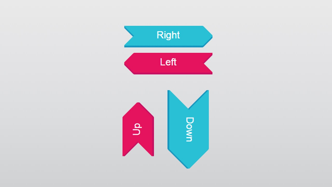 Sign-post arrow buttons with CSS