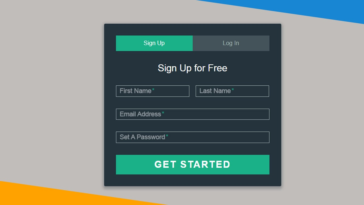 Simple Sign-Up - Login Form