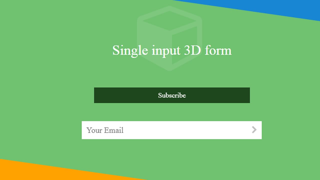 Single input 3D form