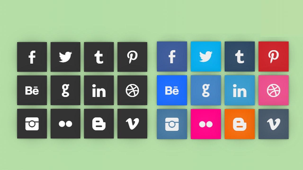 Social Flip Cards CSS