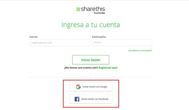botones de compartir en redes sociales con sharethis