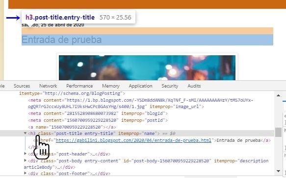 Usar la consola del navegador en blogger