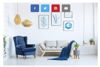 Botones de Compartir en Redes Sociales sobre las imágenes