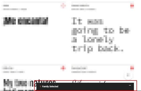 Ventana de la fuente en Google fonts