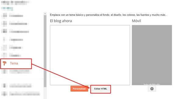 Tema editor de html blogger