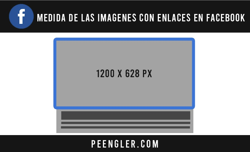 Medida de las FOTOS CON ENLACES en Facebook