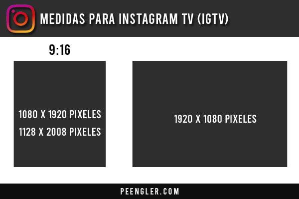 Medidas para Instagram TV (IGTV)