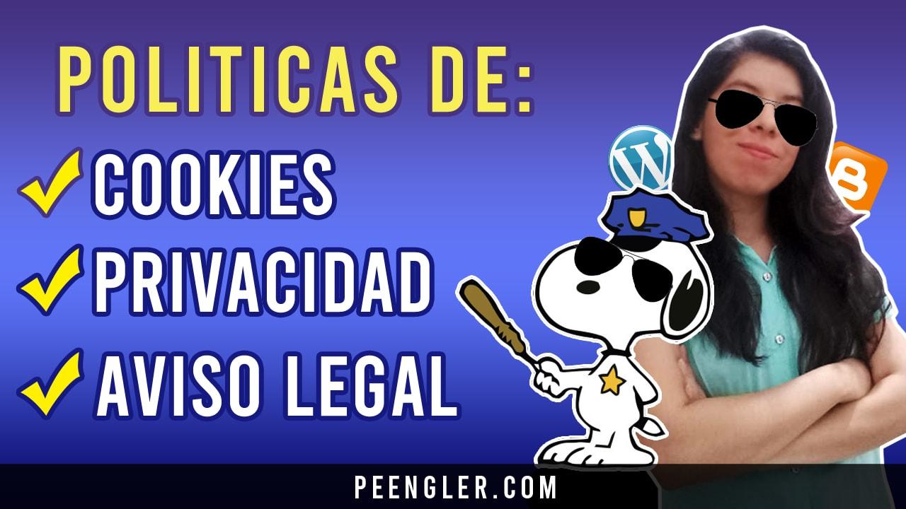 Política de Cookies Privacidad y Aviso legal En tu Web