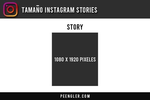 Tamaño Instagram stories