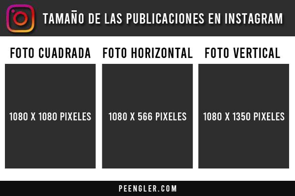Tamaño de las publicaciones en Instagram