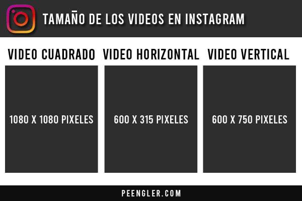 Tamaño de los vídeos en Instagram