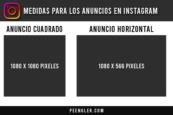 Medidas para los anuncios en Instagram