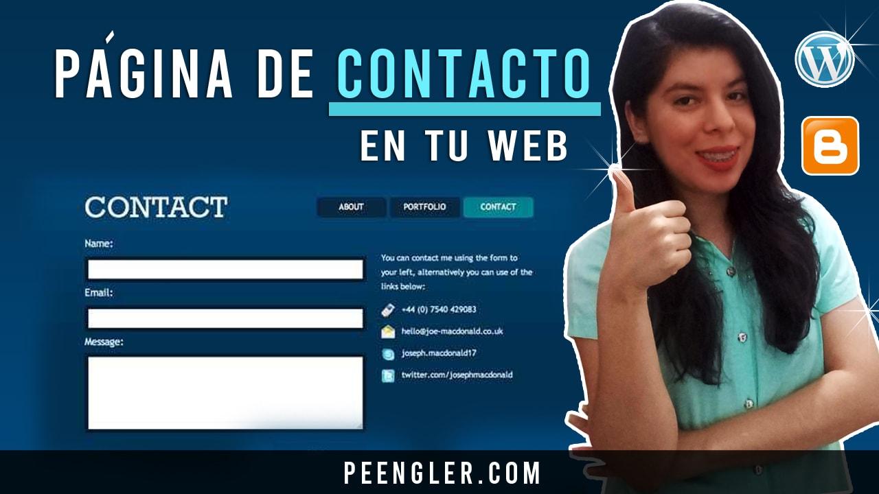 pagina de contacto en tu web