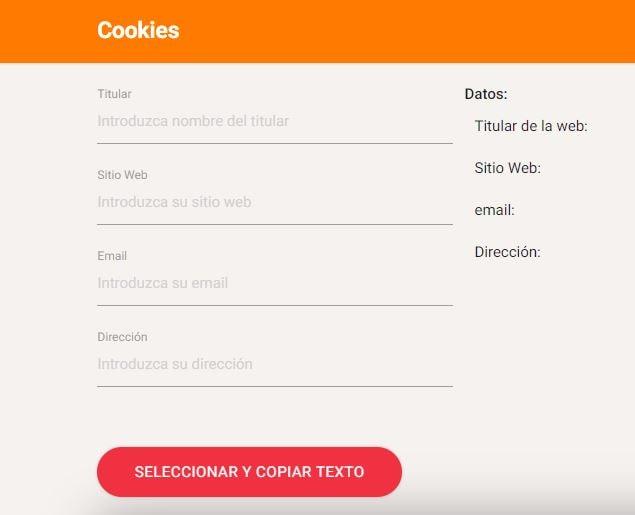 Política de Cookies para mi blog