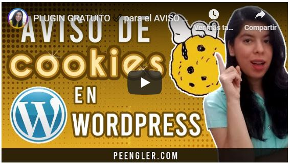 Video Tutorial Aviso de Cookies en WordPress