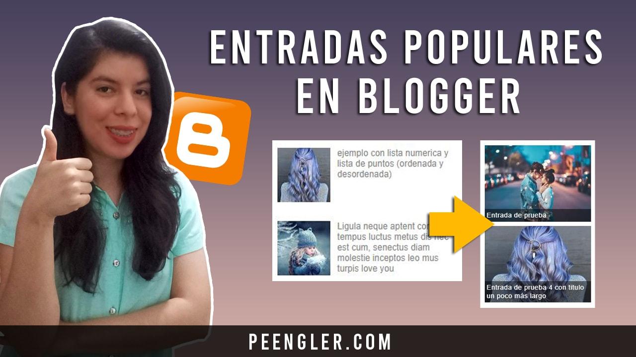 Entradas Populares Responsive en Blogger