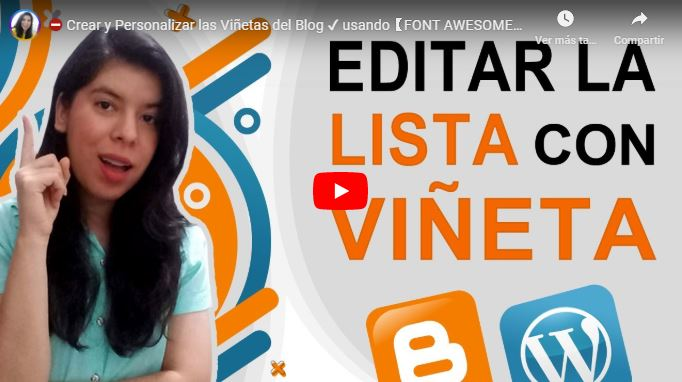 Personalizar Lista con Viñetas en tu Blog