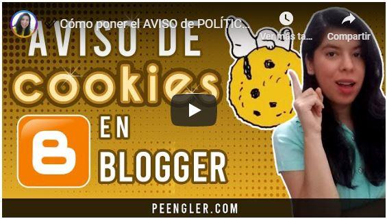 Aviso de Cookies en Blogger