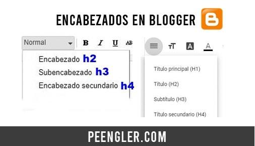 h1 h2 h3 encabezados en Blogger