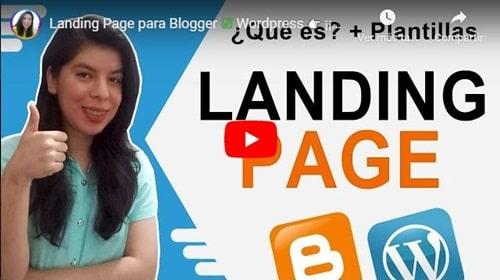 Landing Page para Blogger y wordpress