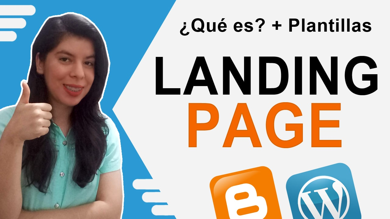 landing page en blogger y wordpress