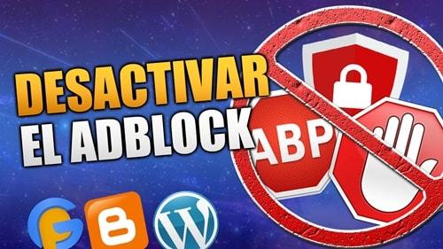 Desactivar el Adblock en el Blog