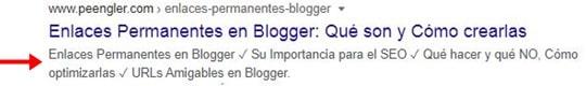 Descripción de Búsqueda en Blogger