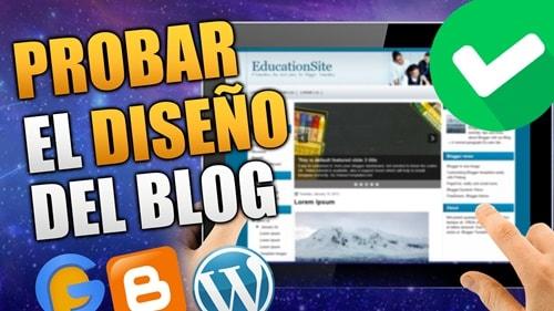 Herramienta para Probar el Diseño del Blog