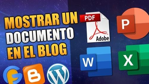 Insertar un documento PDF en el blog