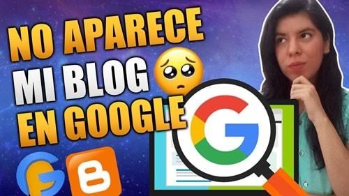 blog no aparece en google