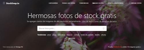 descargar imagenes gratis con stocksnap