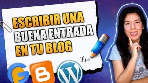 escribir una entrada del blog