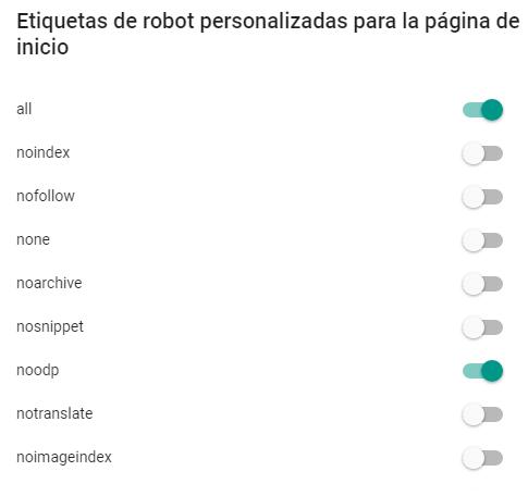 Etiquetas de robot personalizada
