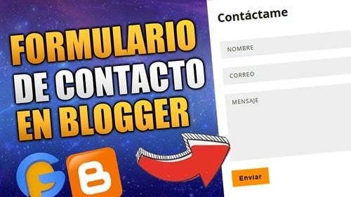 formulario de contacto en pagina estatica blogger