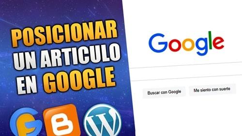 posicionar un articulo del blog en google