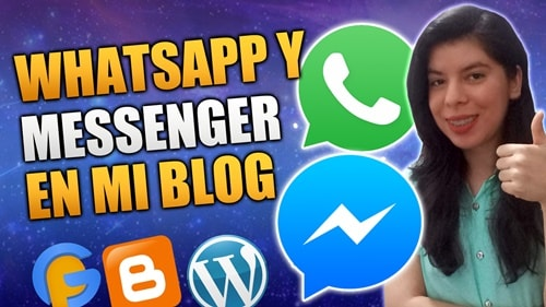 WhatsApp y Messenger en el Blog